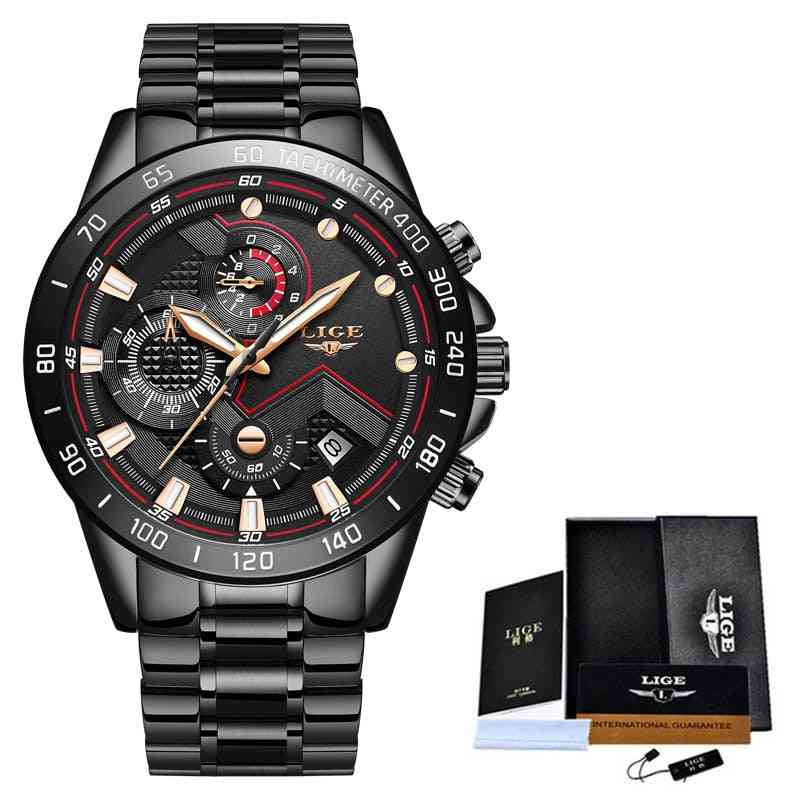 Top Brand Luxury Stainless Steel Waterproof Quartz Watch Fashion