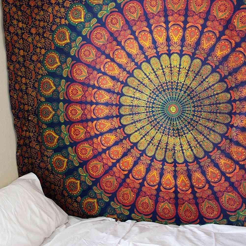 Mandala Indian Tapestry Wall Hanging Bohemian Beach Mat