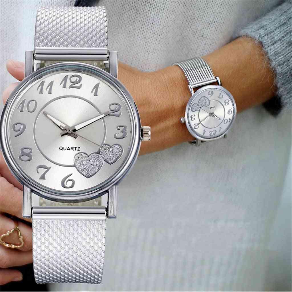 Women Creative Fashion Mesh Belt Watch