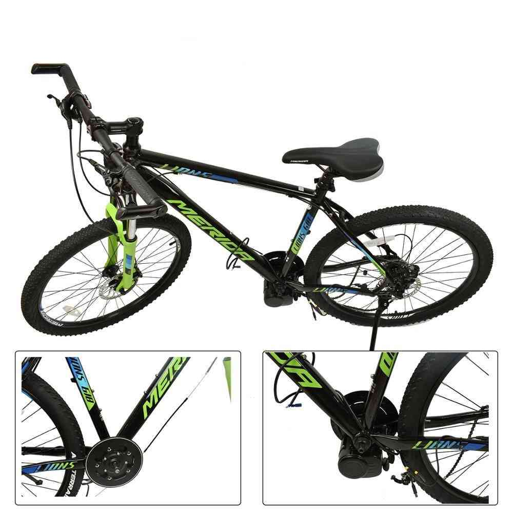Electric Bicycle Mid Motor With Torque Sensor, Throttle E-brake Lever