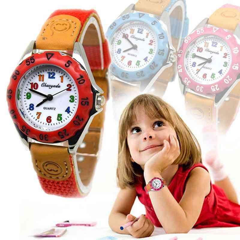 Cute & Quartz Watch,'s Fabric Strap Student Time Clock