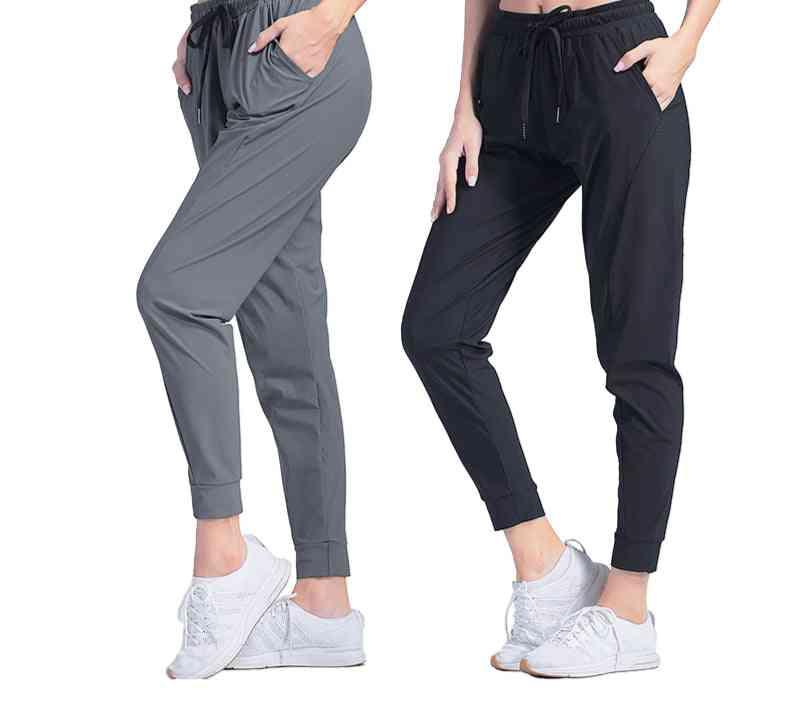 Women Sportswear Quick Dry Running Loose Breathable Pocket Yoga Pants