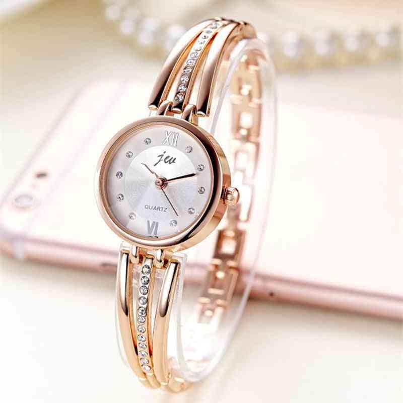 Stainless Steel Bracelet Watches, Ladies Quartz Wristwatches