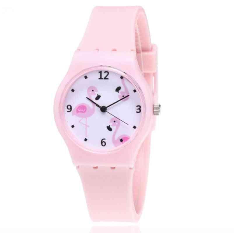 Silicone Mesh Clock, Cartoon Quartz Wristwatches