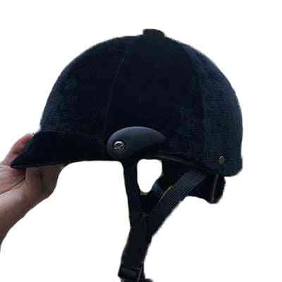 Horse Riding Helmet, Classic Velvet Safety Cap