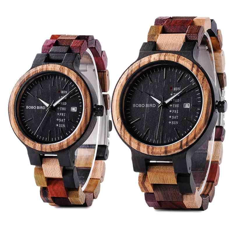 Quartz Colorful Wooden Watch/women