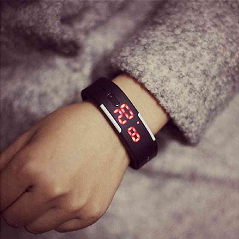 Charming Wristwatches Silicone Led Sports Bracelet Touch