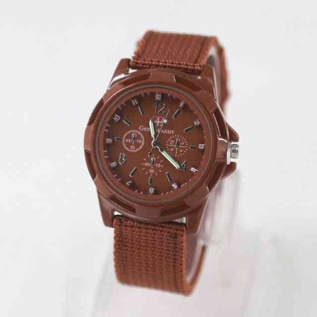 Sport Watches Men Leather Nylon Military Army Waterproof Clock