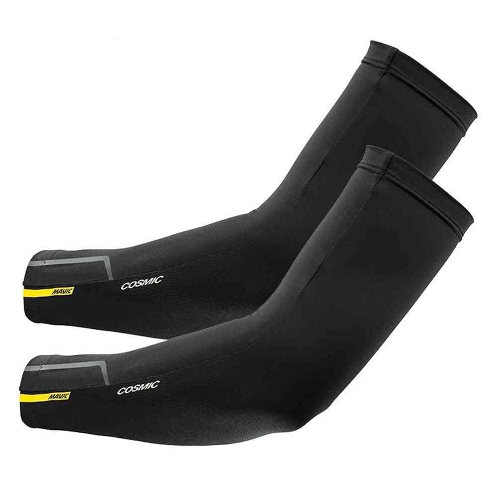 Cosmic Black Uv Protection - Breathable Running, Racing Bicycle Hand / Leg Sleeve