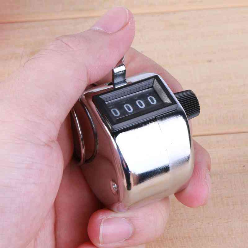 Number Mini Hand Held Tally Counter, Manual Counting, Golf Clicker, Small Mechanical Training, Timer Tools