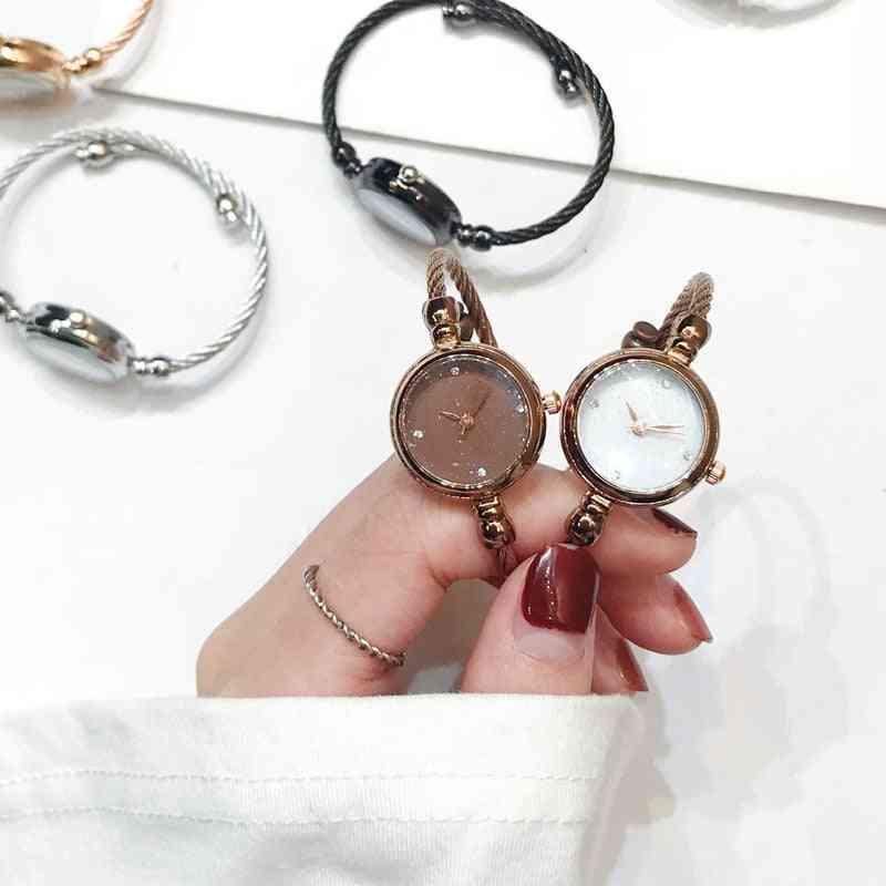 Luxury Starry Sky Women Fashion Shine Diamond Elegant Bangle Wristwatches