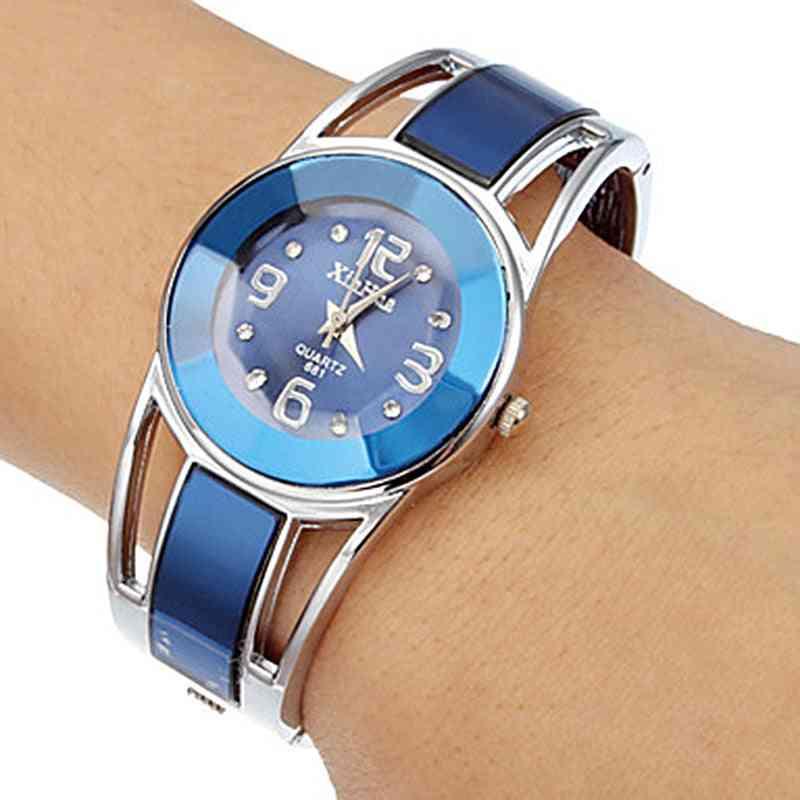 Hot Sell Bracelet Watch Women Luxury Brand Stainless Steel Dial Quartz Wristwatches