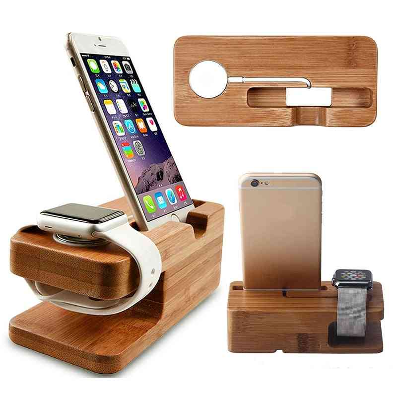Wood Box, Phone Stand For Apple Watch