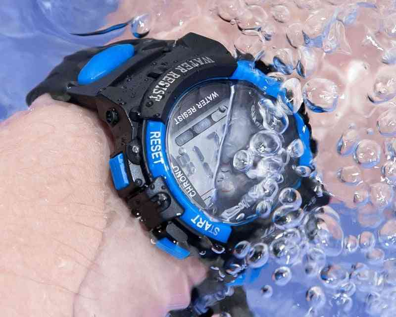 Silicone Strap, Waterproof Led Digital Sport Kids Watches