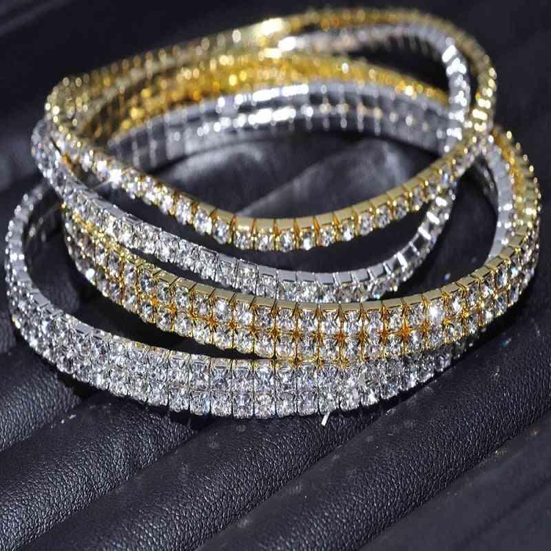 Clear Shining Crystal Rhinestone, Anklet Chain, Bracelets Foot Wedding Jewelry