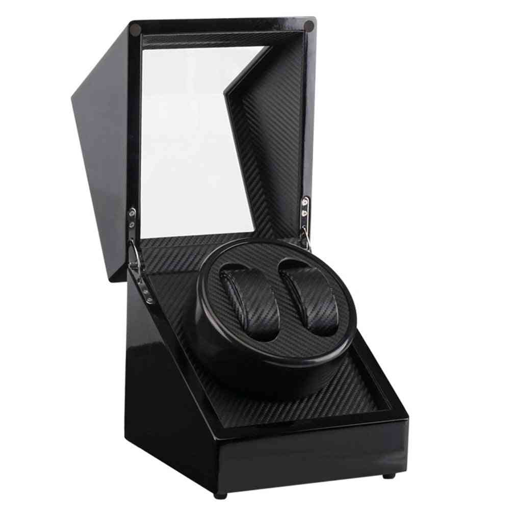 Wooden Lacquer Piano Glossy Carbon Fiber Quiet Motor Storage Display Watches Box