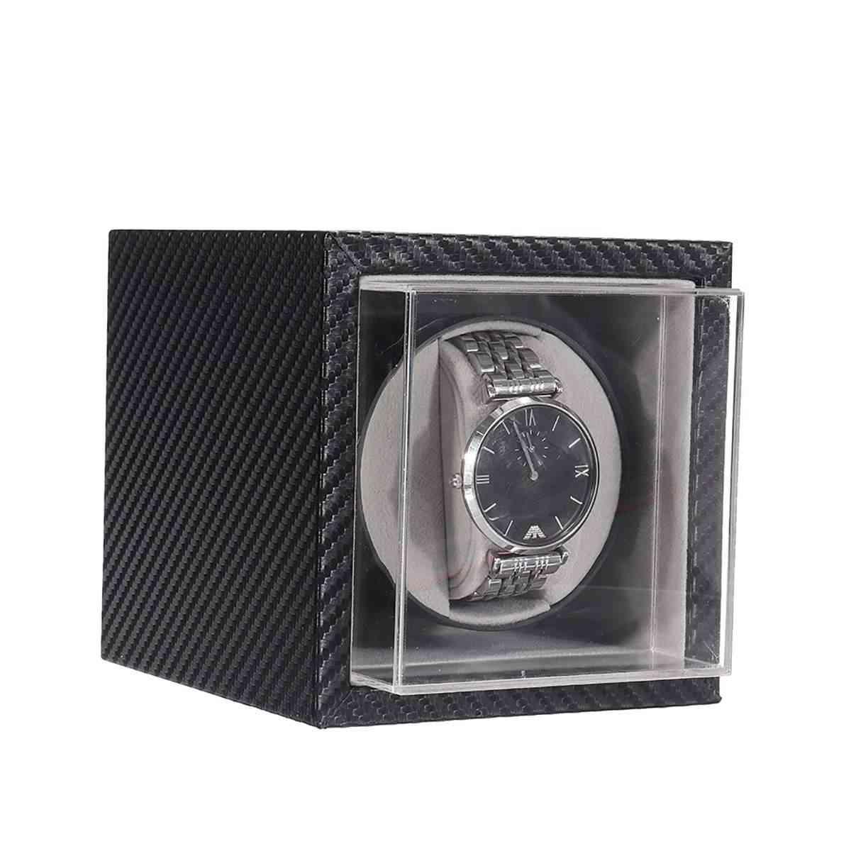 Automatic Watch Winder, Mute Motor Shaker, Carbon Fiber Watches Box