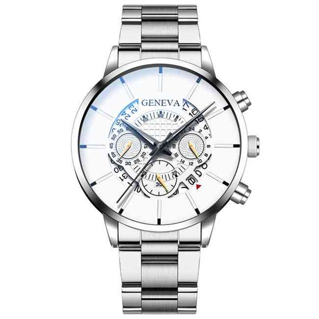 Stainless Steel, Senior Brand, Sports Watch With The Calendar