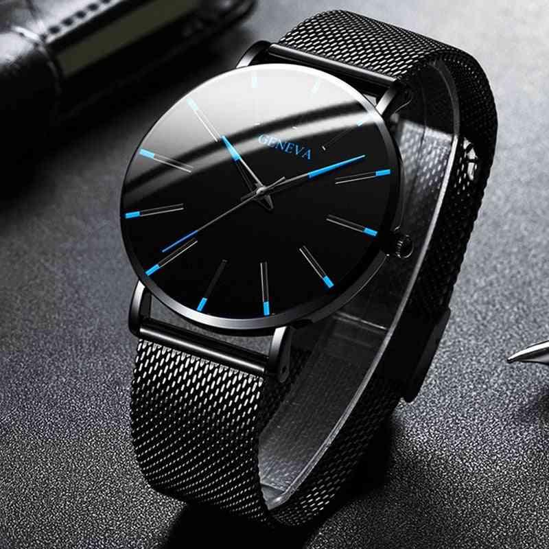 Men Sport Analog Stainless Steel Casual Bracelet Watch