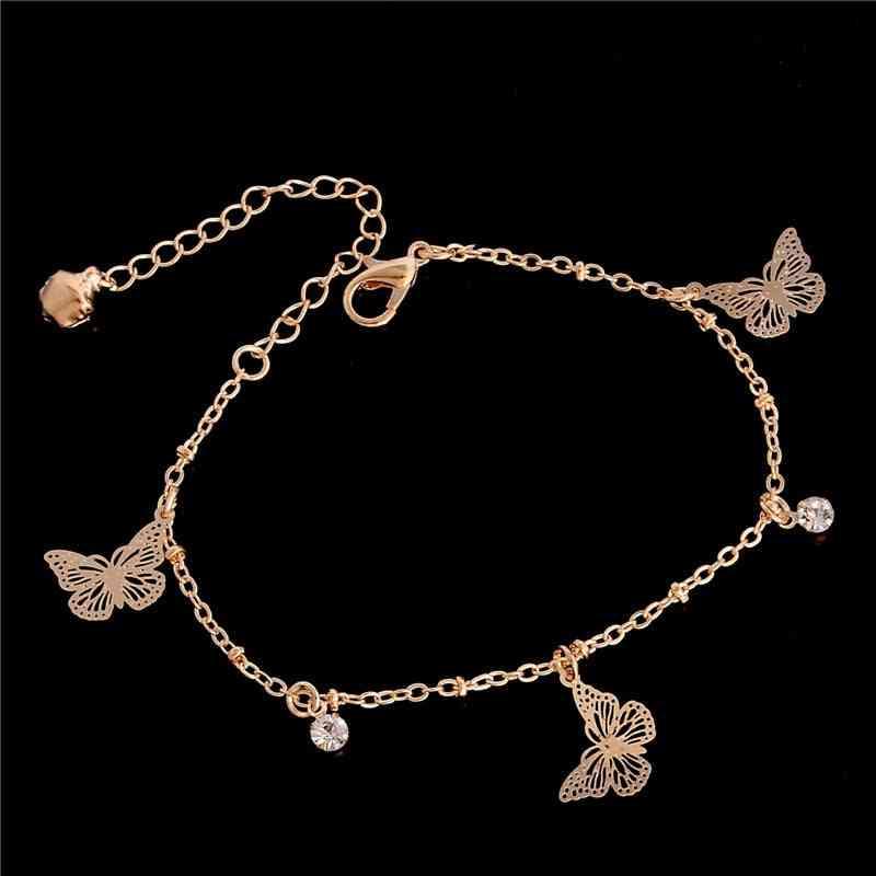 Sweet Simple Butterfly Shape-anklet, Bracelet, Beach Foot Sandal