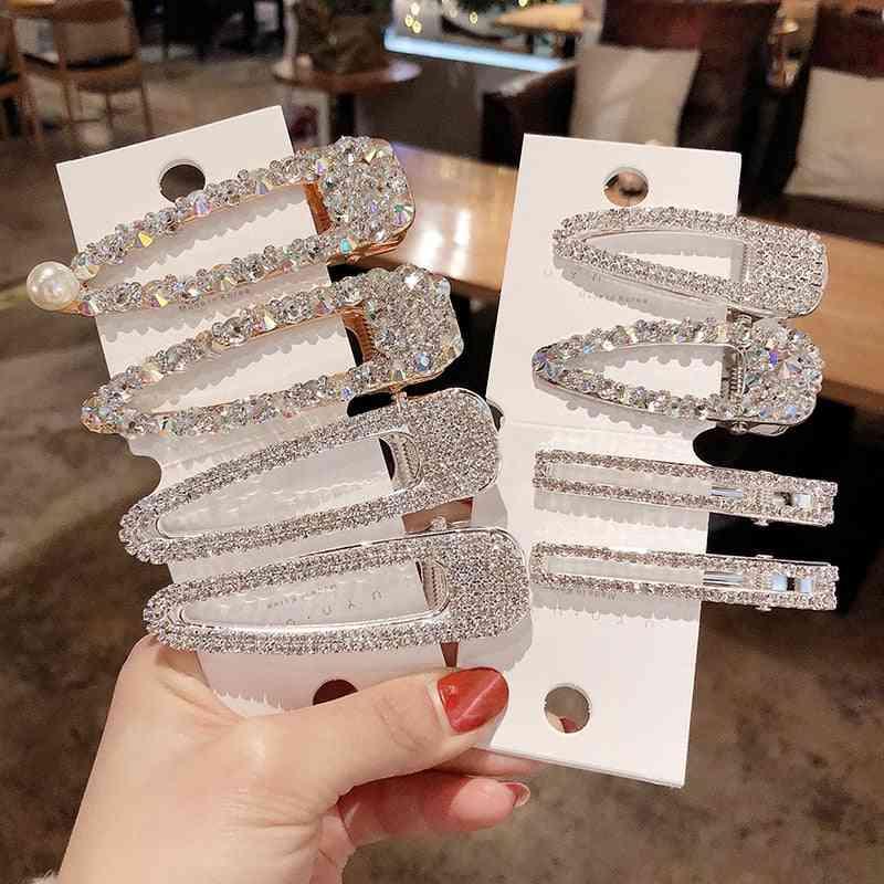 Fashion Simulation Pearl Gold Barrettes Clips, Pins Wedding Bridal Tiara Accessories