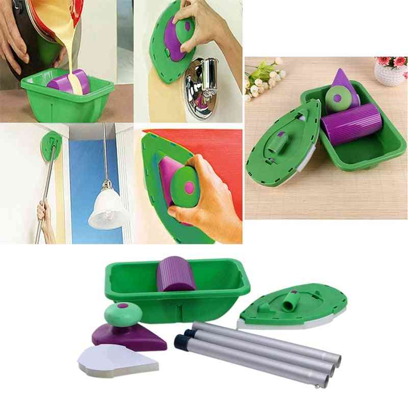 Paint Roller Tray, Sponge Pads, Kits Household Painting Brush Tools