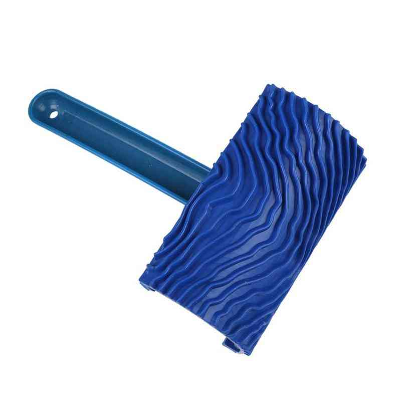 Rubber Wood Grain Paint Roller Diy Graining Painting Tool With Handle