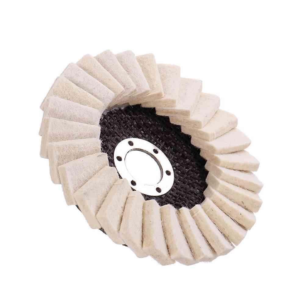 Stianless Steel Wool Felt Flap Polishing Wheel Disc Angle Grinder Buffing Pads