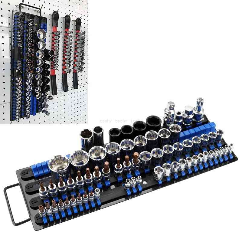 Socket Wrench Storage Rack Holder Drive Tool Organizer, Finishing Holder