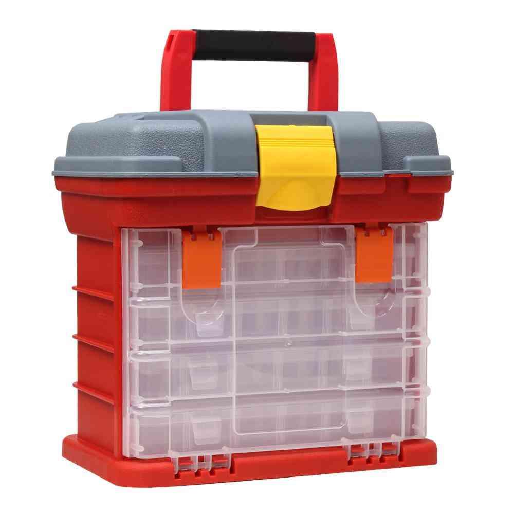 Fishing Tackle Portable Toolbox, Case, Screw Hardware Plastic Storage Box