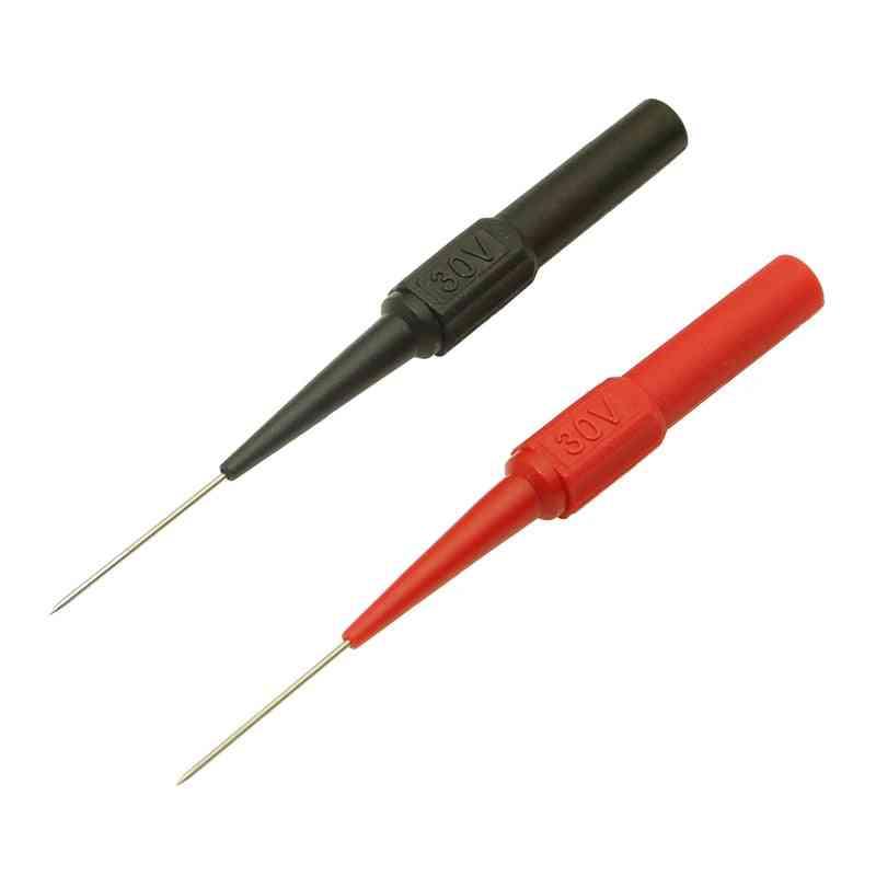 Insulation Piercing Needle Non-destructive Multimeter Test Probes For Banana Plug