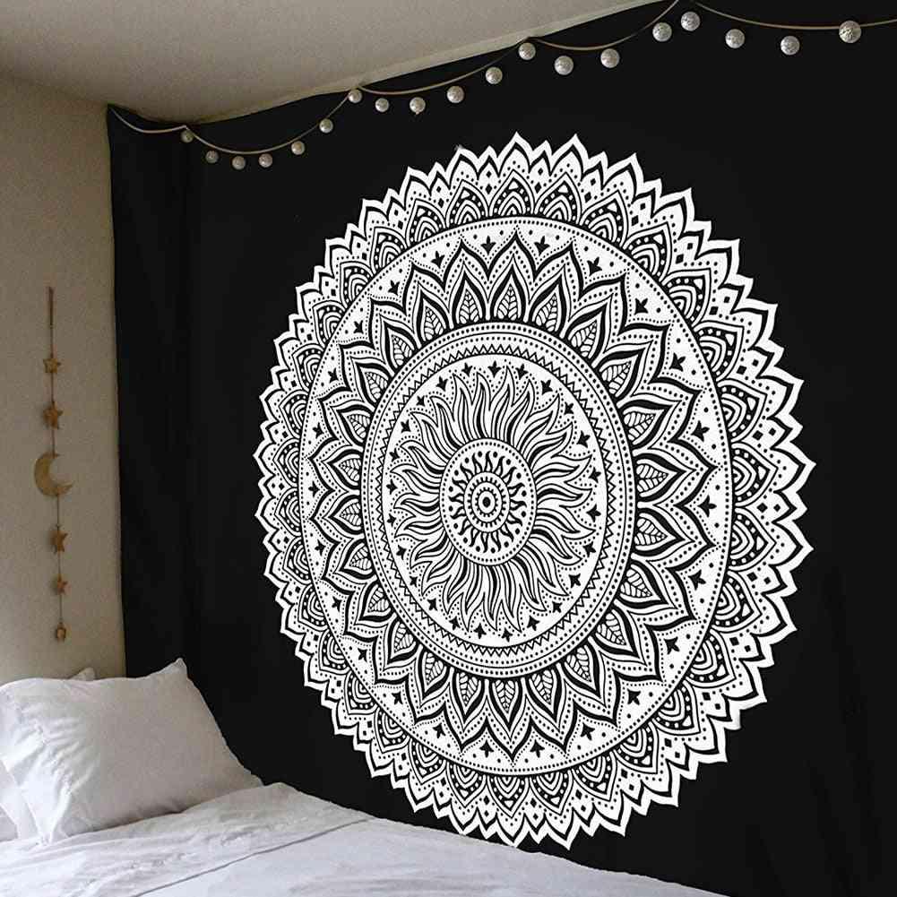 Mandala Indian Tapestry Wall Hanging Bohemian Yoga Mat Home Bedroom Art Carpet