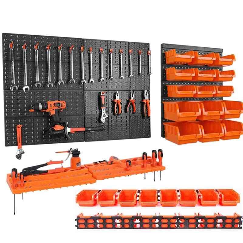 Wall-mounted Hardware Tool Hanging Board Parts Storage Box