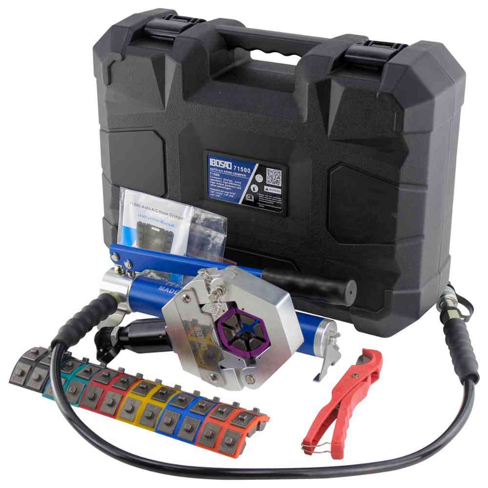 Hydraulic Hose Crimper Hydra Manual Ac Kit Air Conditioning Repair Tool