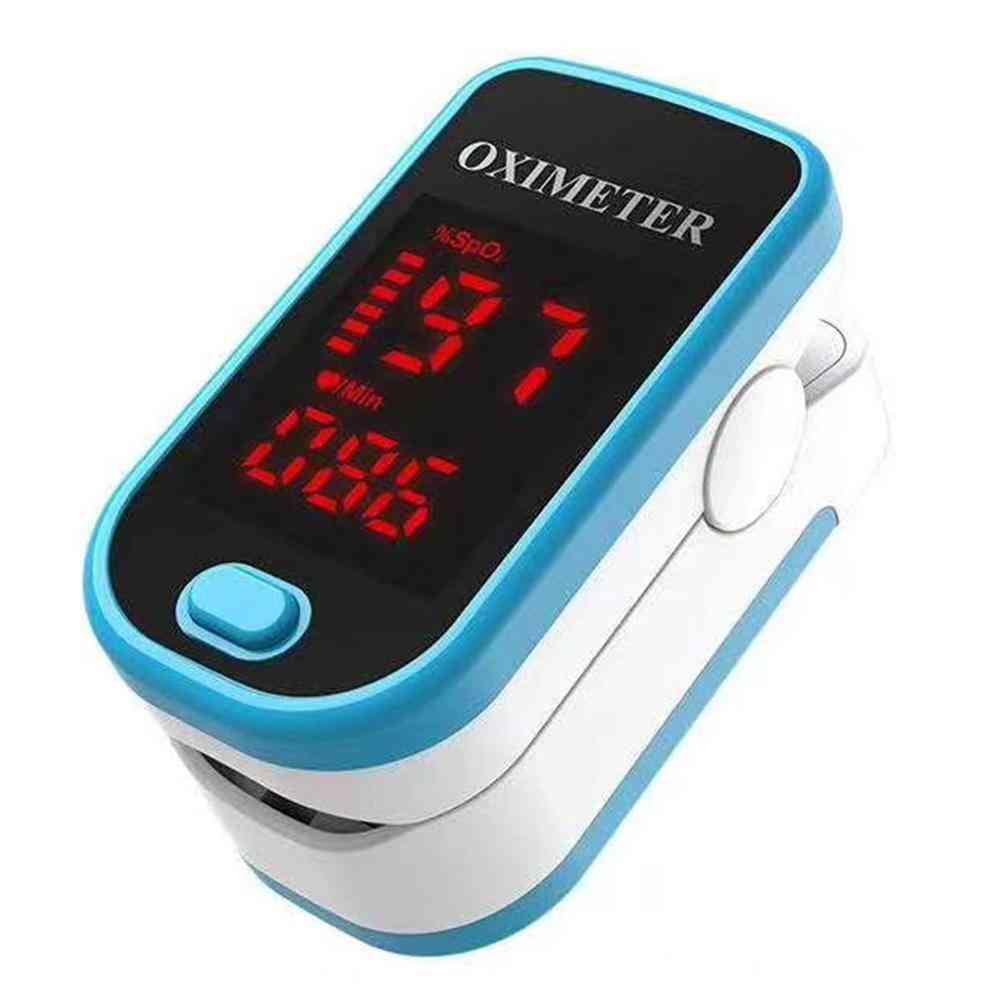 Digital Finger Pulse Oximeter, Blood Oxygen Heart Rate Health Diagnostic Monitor Tool Portable