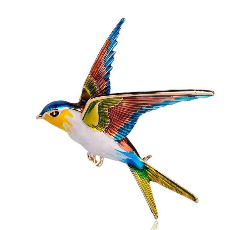 Animal Bird Flying Swallow Brooch-pins