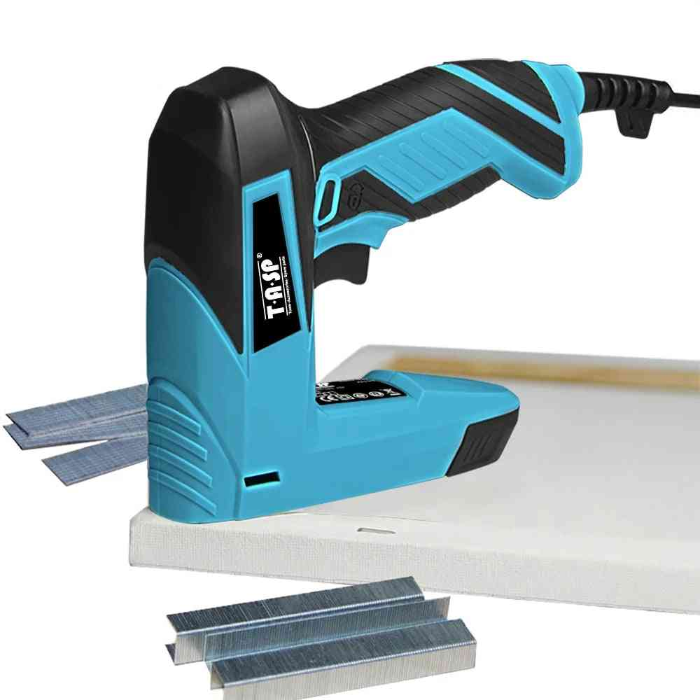 Electric Nailer And Stapler Furniture Staple Gun For Frame With Staples&nails, Carpentry Woodworking Power Tools