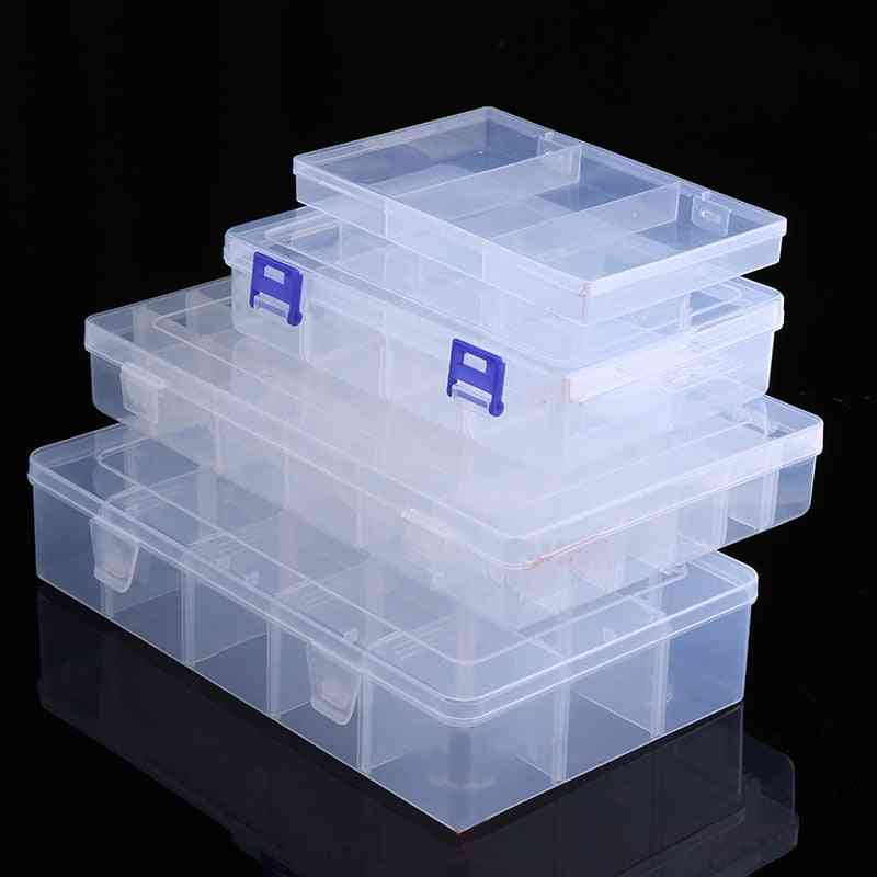 1pcs Adjustable Transparent Plastic Storage Box For Terminal Small Component