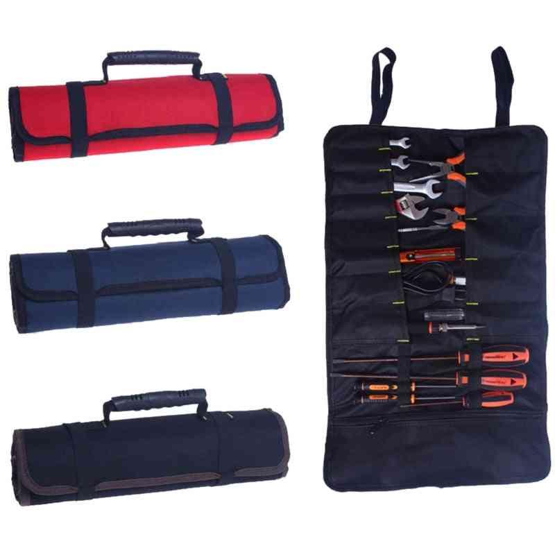 Oxford Canvas Waterproof Storage Hand Tool, Bag - Screws Drill Bit Metal Parts Fishing Travel Makeup Organizer