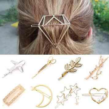 Hair Clip, Hair Pins- Jewelry Lady Pearl Barrette Stick Heart Headwear