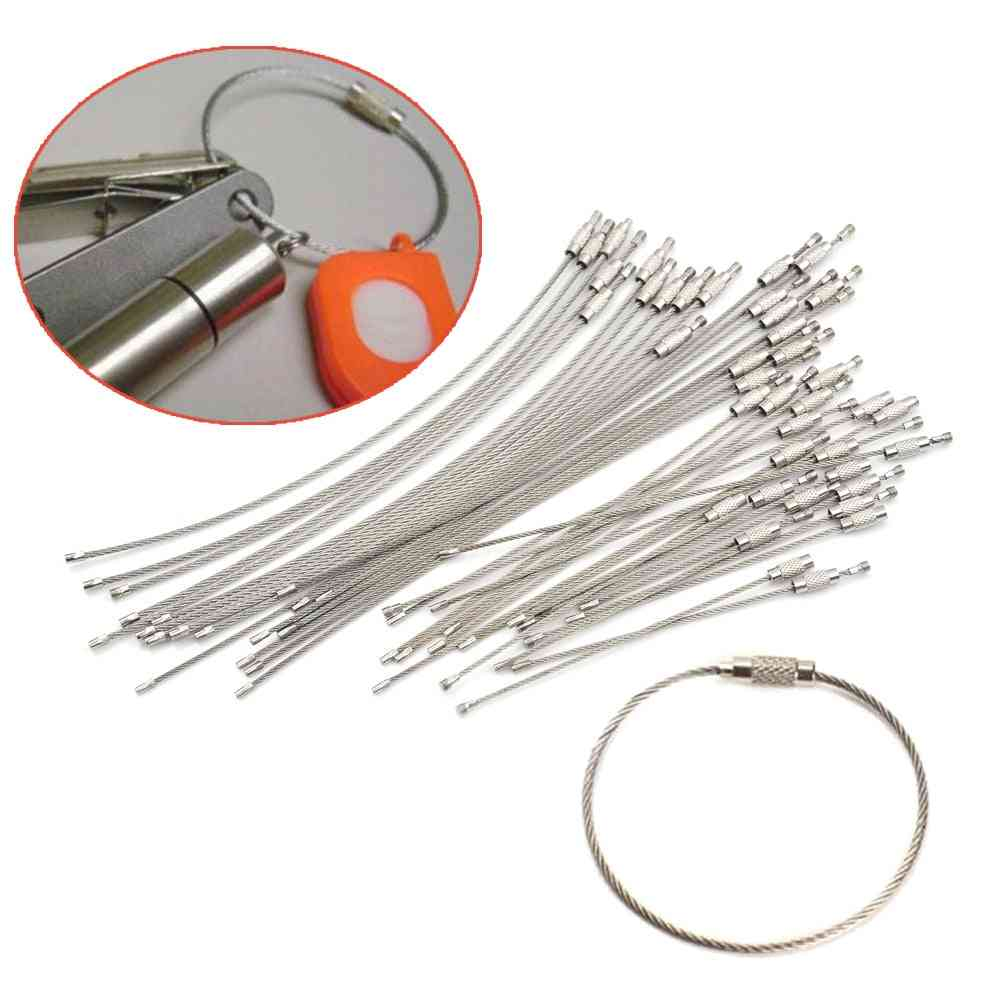 Stainless Steel Wire - Keychain Tag Rope