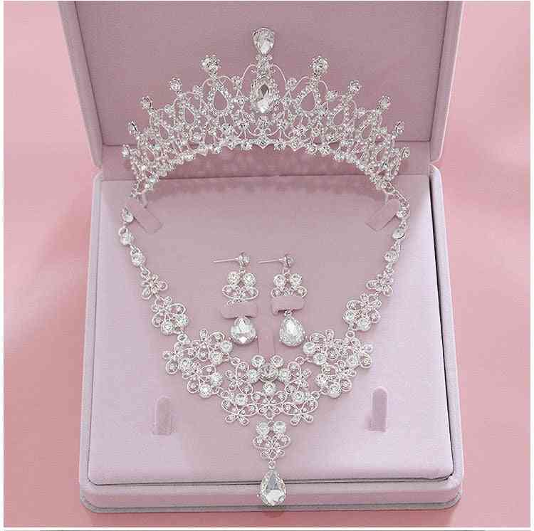 Fashion Crystal Tiara, Crowns, Earring, Necklace, Wedding Jewelry Accessories