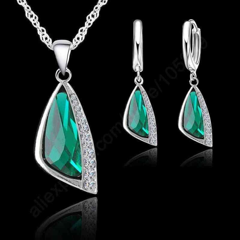 925 Serling Silver Zirconia Necklace Set