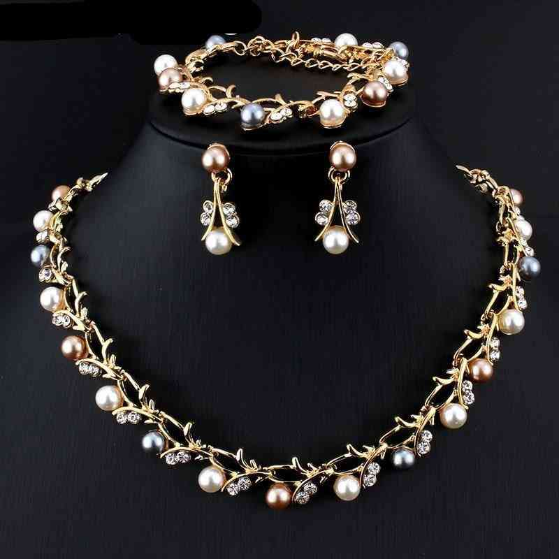 Imitation Pearl Wedding Necklace - Bridal Jewelry Sets, Elegant Party