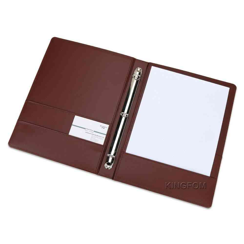 3 Rings Binder A4 Folder With Pockets For Document