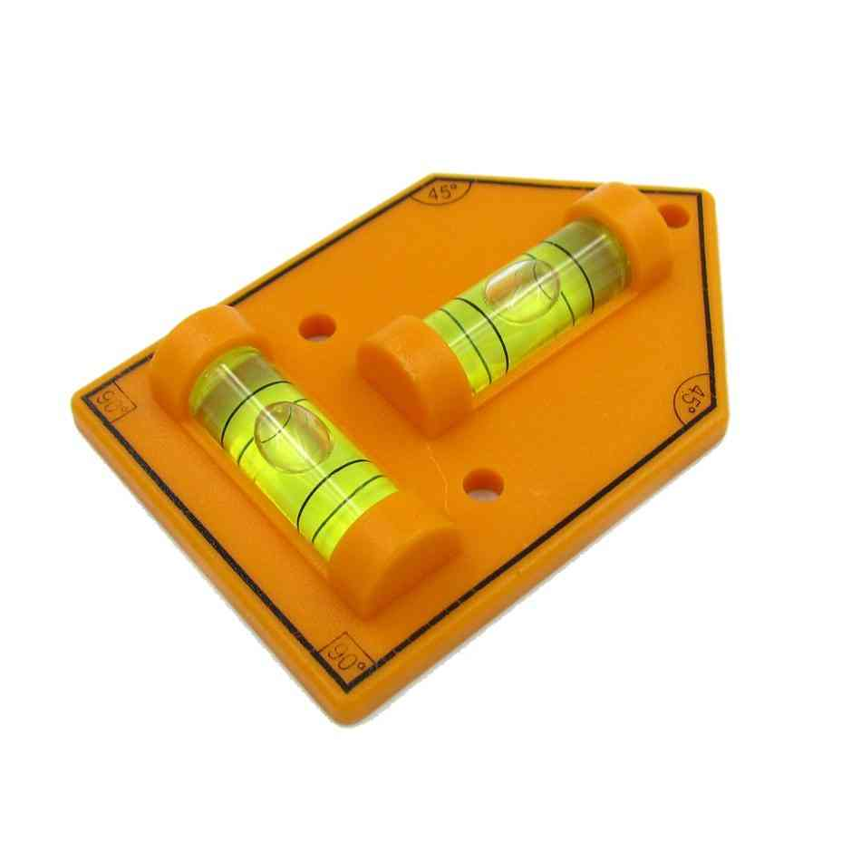 Plastic T-type Level Bubble Triangular Acrylic Level-vails Ruler