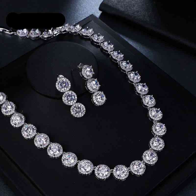 Gorgeous Round Earring & Necklace Jewelry Sets