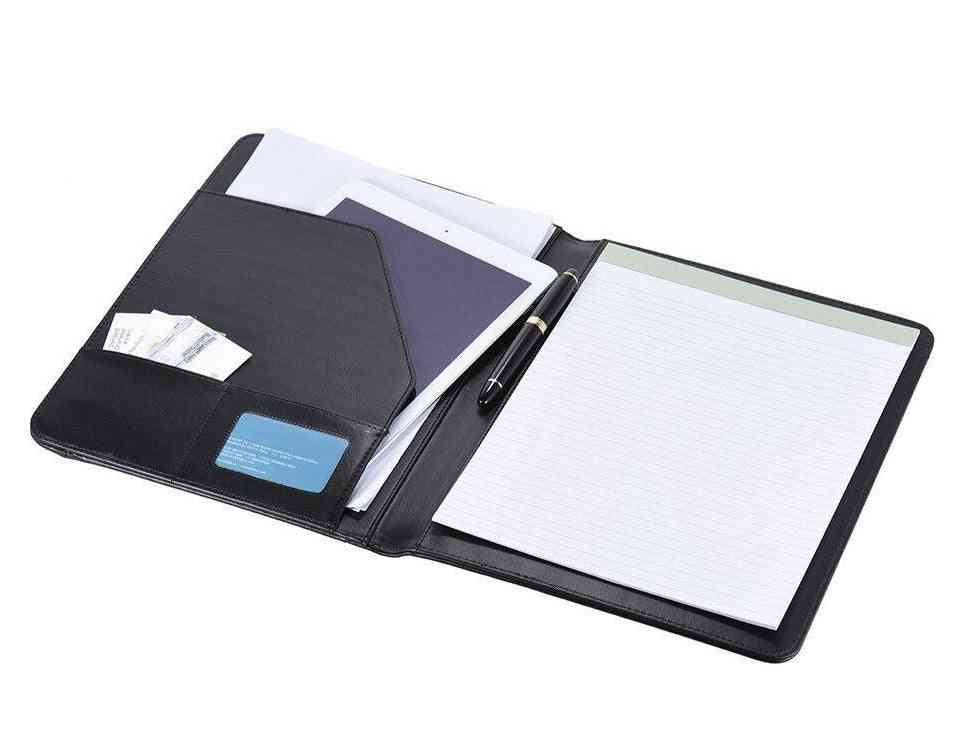 Business Portfolio Document Case With Business Card Holder, Memo Note Pad