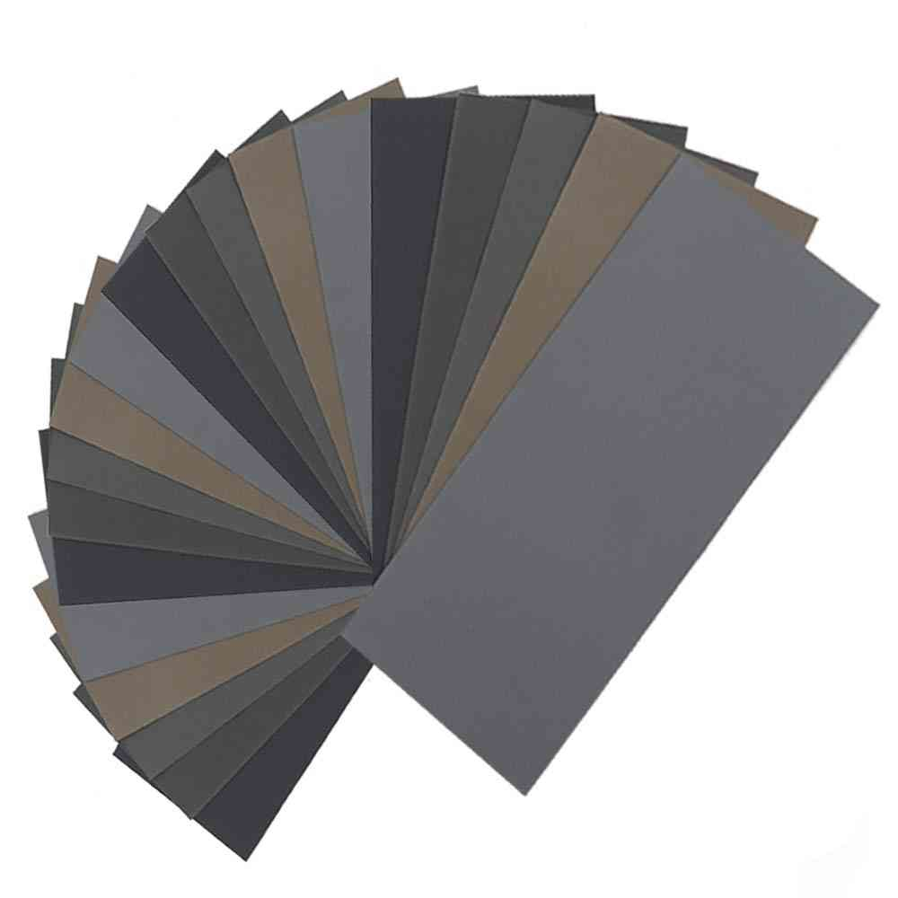 High Grit Sandpaper Sheets Assortment For Wood Metal Polishing