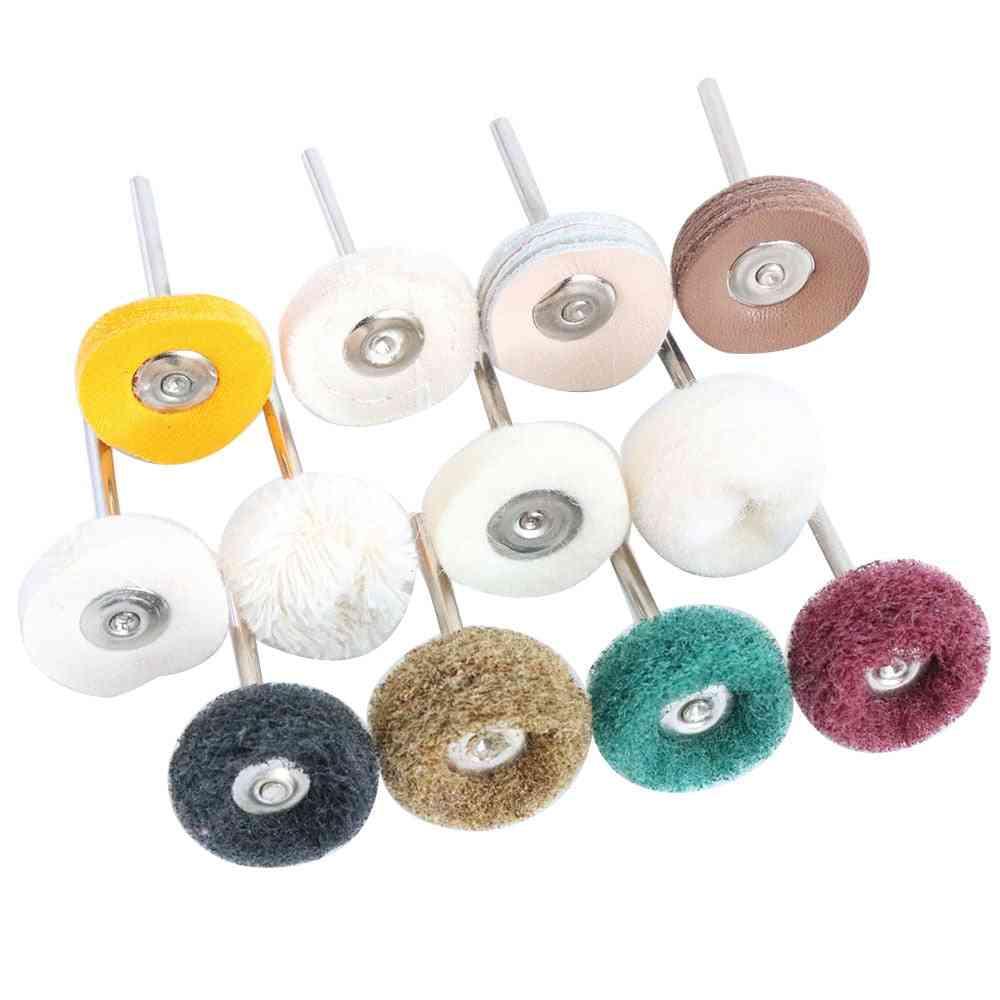 Wool Felt Grinding Sanding Head Abrasive For Polishing- Mini Brush For Dremel Drill